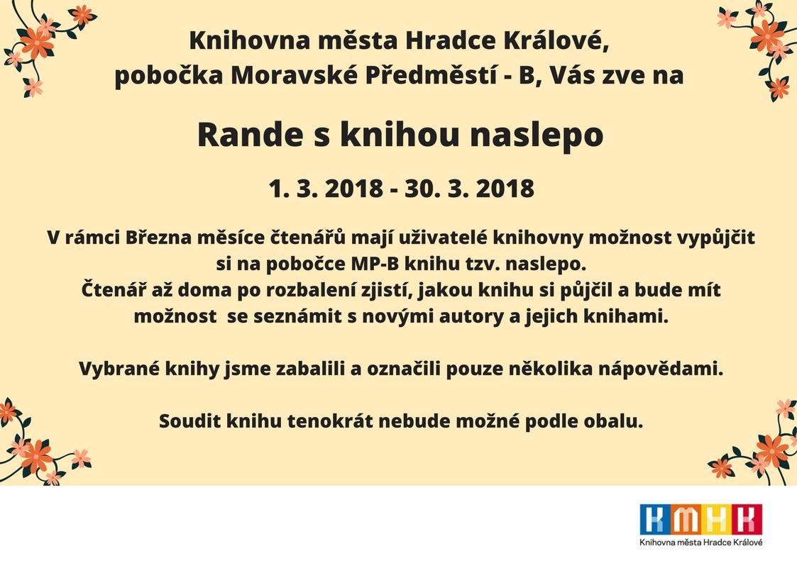 Hradec Krlov - program kin filmu Rande naslepo na pondl
